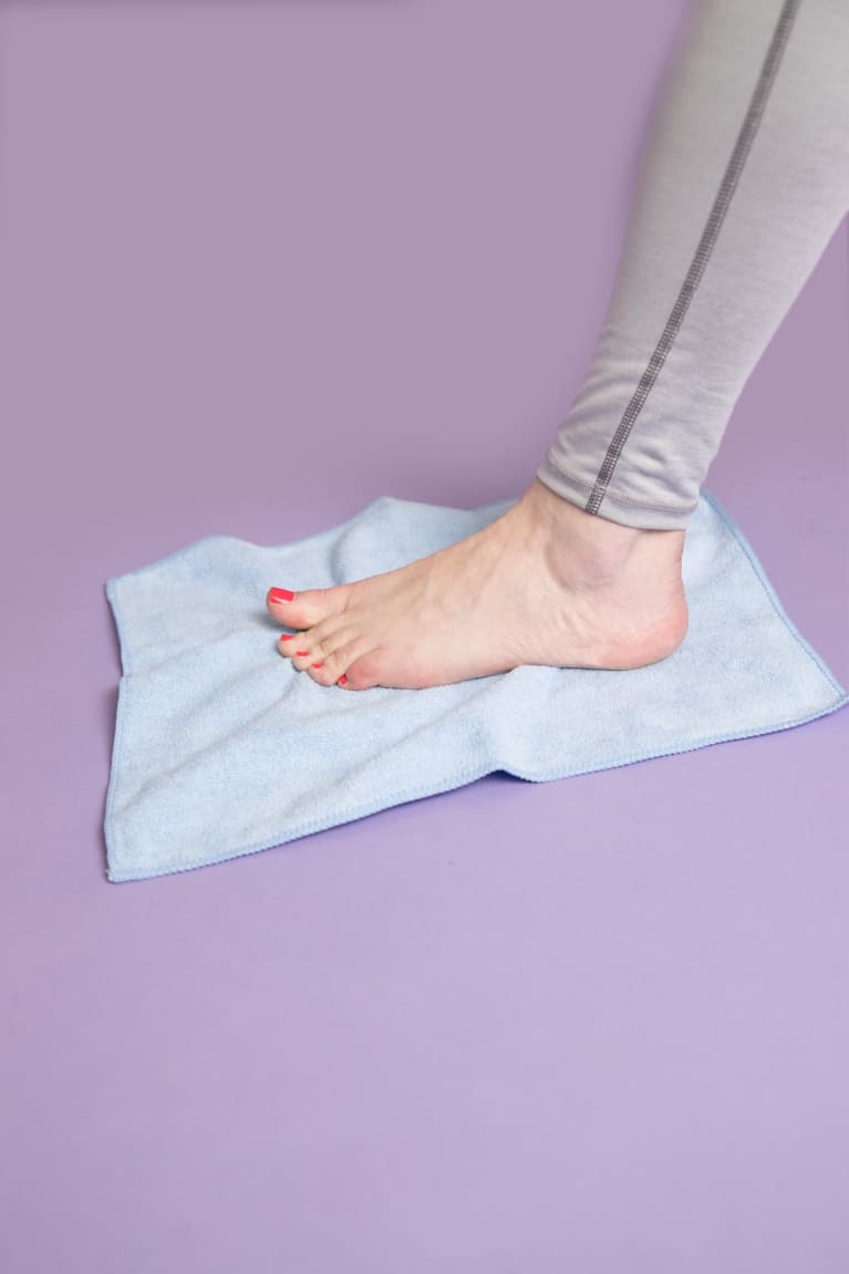 6. Towel scrunches