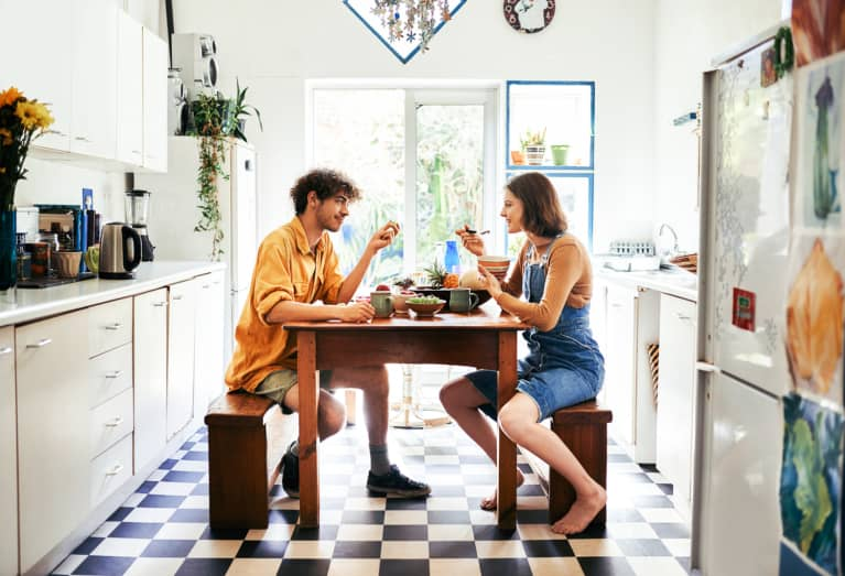 Couple Having Lunch at Home