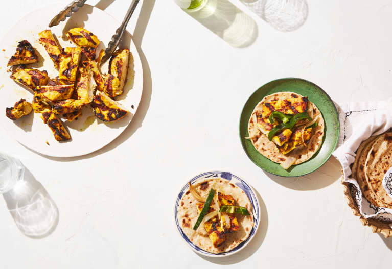 Want Healthier Tex-Mex? Enter Vegan 'Queso' & Turmeric-Ginger Chicken Fajitas