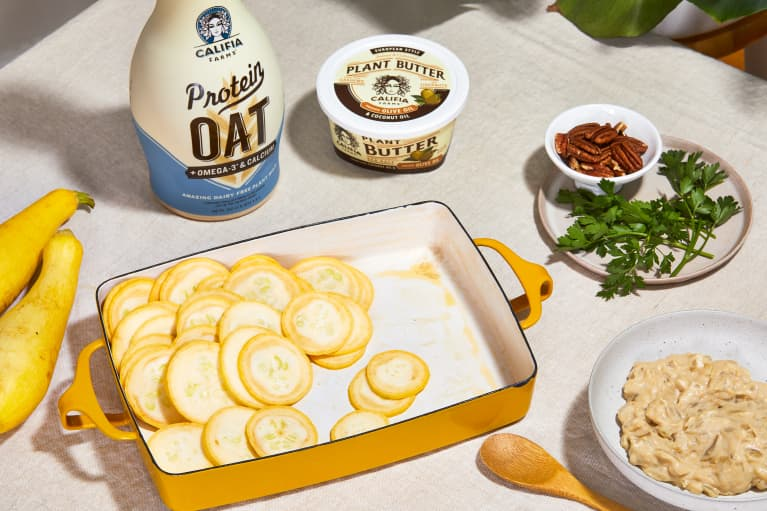 Celebrate World Plant Milk Day With This Summer Squash Bake Recipe