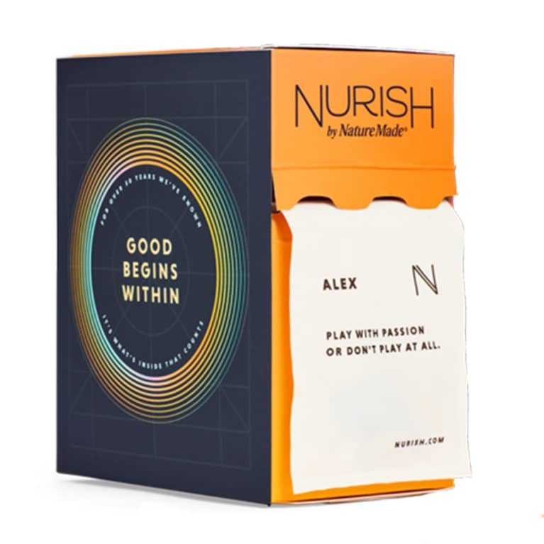 orange and black box filled with magnesium supplements