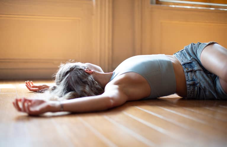 supine yoga pose