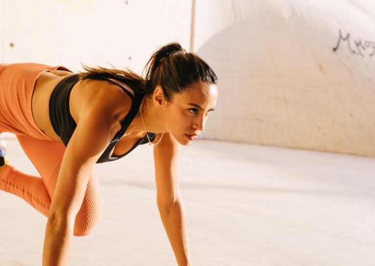 woman doing sprint exercise