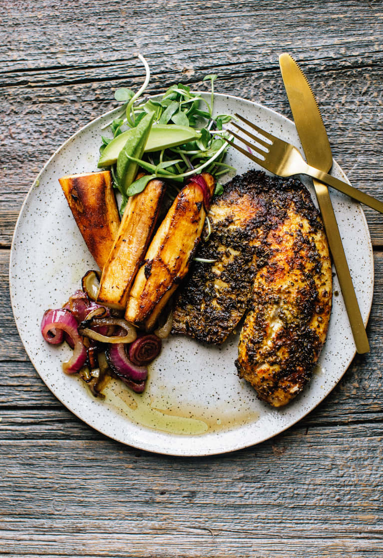 This Spiced Fish Dish With Healthier Fries Is The Perfect Summer Dinner