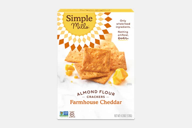 <p>Farmhouse Cheddar Almond Flour Crackers</p>