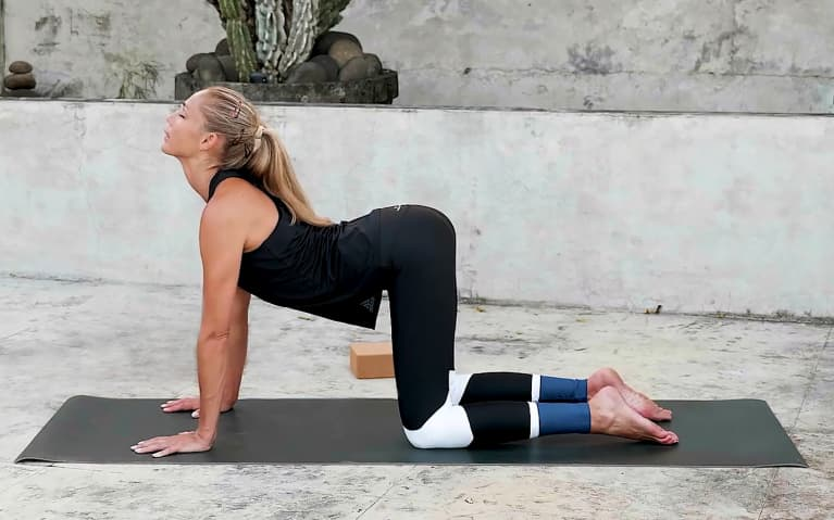10 Minute Yoga Flow For Core Strength - Cow Pose