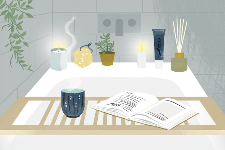 Illustration of a Bath Time Ritual