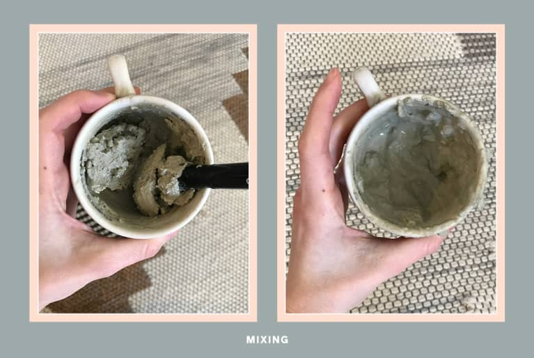 mixing the aztec clay mask
