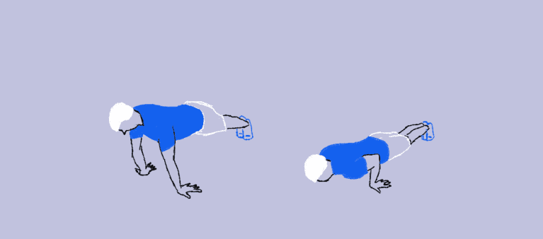 reverse hands push up