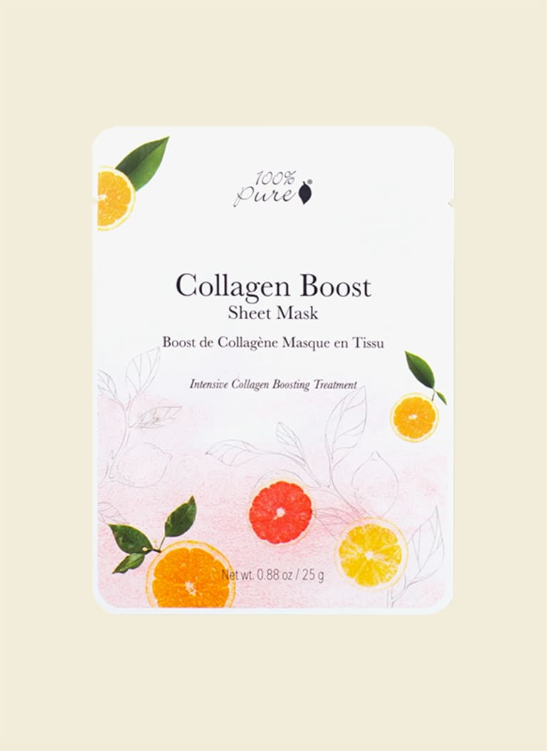 100% pure collagen boost bamboo sheet mask