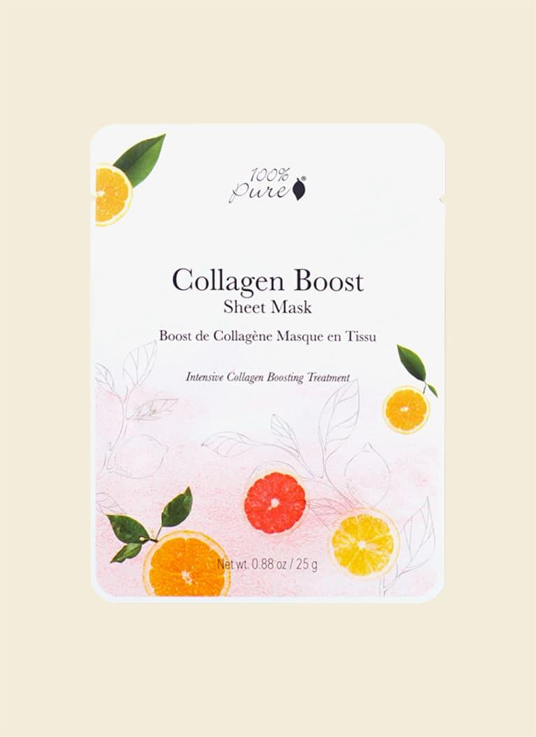 100% pure collagen boost bamboo sheet mask