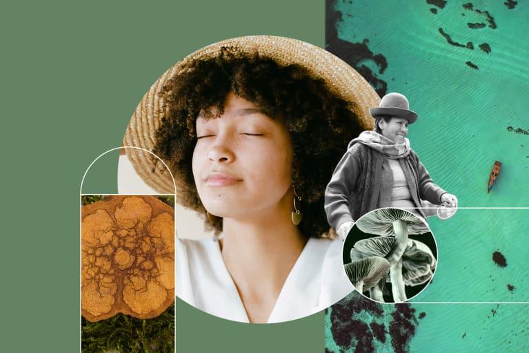 Woman in thought, ayahuasca, peruvian woman, magic mushrooms