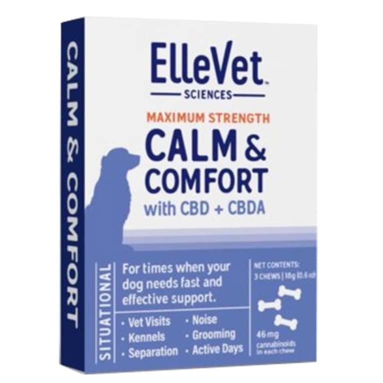 ElleVet Calm & Comfort Chews package