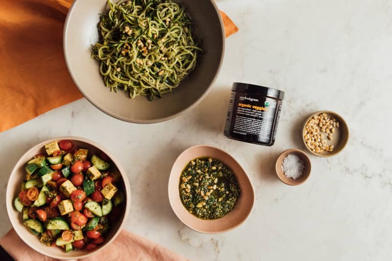 Organic Veggies+ Pesto Recipe