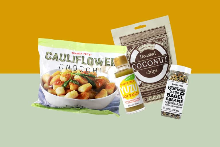 collage of healthy products from Trader Joe's