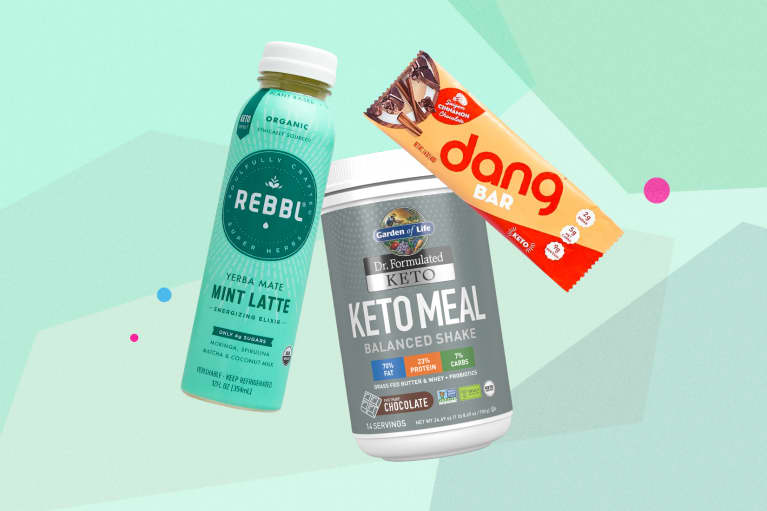 Collage of keto products in stores for spring 2019