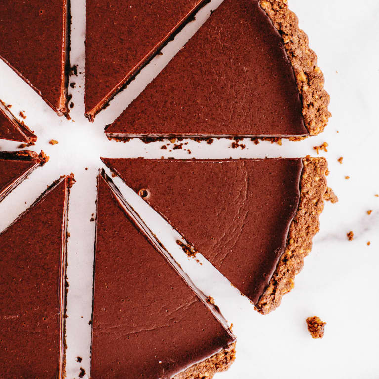 Chocolate Ganache Tart With Cookie Crust