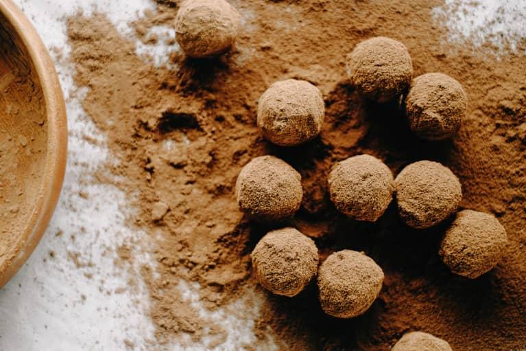 Chocolate Truffels In Cocoa Powder