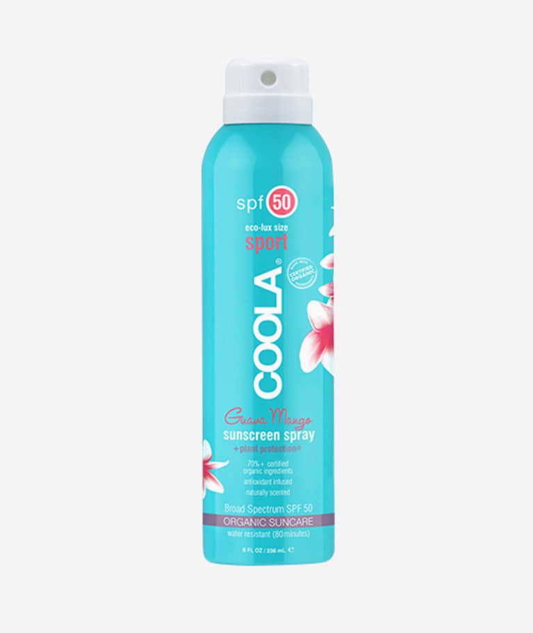 COOLA Suncare Sport SPF 50 Guava Mango Sunscreen Spray