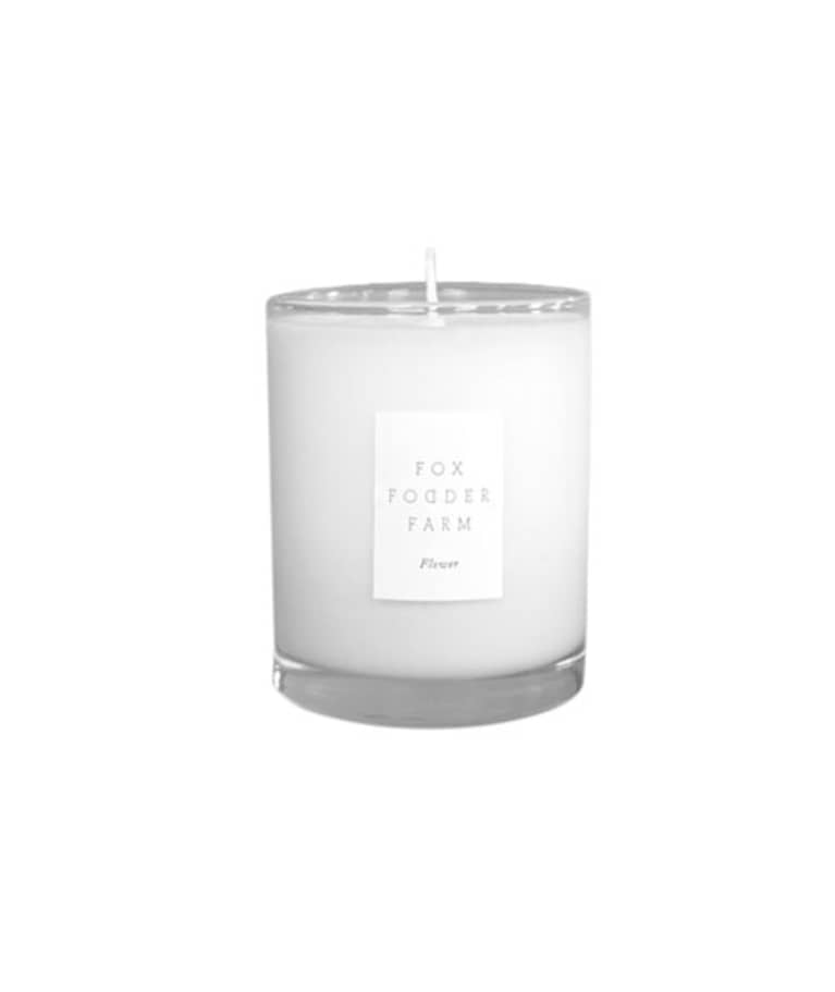 Fox Fodder Farm Large Flower Candle