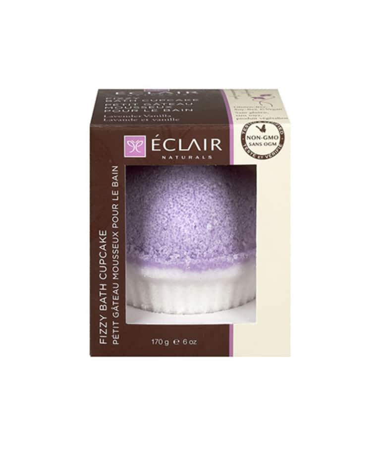Éclair Naturals Fizzy Bath Cupcake in Lavender Vanilla